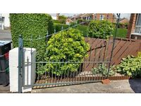 """Double driveway gates. Steel, very good condition. Fits 15'2"""" opening.£395 ono"""