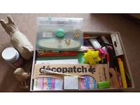 Large box of stationary and art supply for children