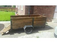 Motorbike car trailer DIY strong sturdy 7ft x 3ft look