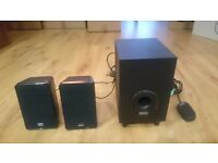 Set of small Sweex speakers