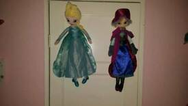 Frozen tall plush dolls