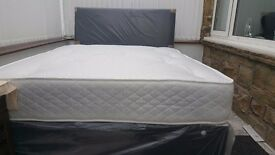 NEW DOUBLE OR SMALL DOUBLE DIVAN BED WITH HILTON MATTRESS