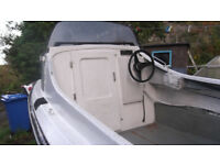 14ft Dory, Cathedral hull. 40 hp Suzuki outboard engine + trailer.