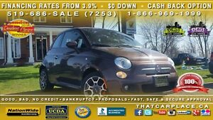 2014 Fiat 500 Sport - $42Wk-Leather-Alloys-Bluetooth
