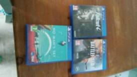 Ps4 games battlefield 1,fallout 4 and no mans sky