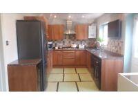 Beautiful walnut veneer 16 unit kitchen for sale