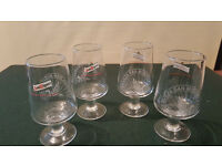 4 x SAN MIGUEL CERVEZA PILSNER LAGER HALF PINT CHALICE GLASS HOME BAR PARTY 1/2 PT