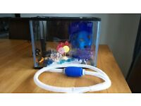 Fish tank (19 litre) with filter, spare gravel and lots of accessories