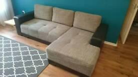 Corner sofa with sleeping bed function