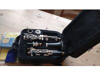 Bp Clarinet with case.