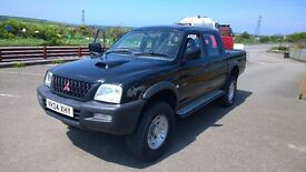 Mitsubishi l200 pick up crewcab, 2004 registration, 2500 cc turbo diesel, 102,000 miles,new mot