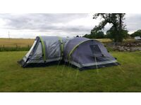 Airgo 8 man inflatable tent with porch
