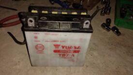 Suzuki Gn125 battery YUASA YB7-A