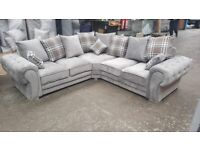 Ask for details BRAND NEW VERONA Corner Sofa In Grey With Scatter Cushions