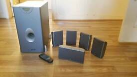 Acoustic Solutions DS1033 Subwoofer and 4 speakers
