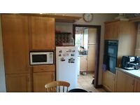 Kitchen Cupboards - real wood doors. Good condition. Available to collect last week in August.