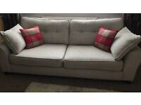 6 month old DFS Sofa with armchair & footstool