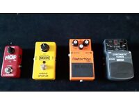 Guitar effect pedals and pedalboard