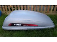 Thule roof box, broken lock but still usable open and closes fine just can't lock,