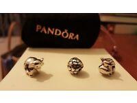 3 x Pandora Charms