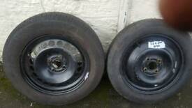 steel wheel and spare wheel