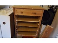 A CHEST OF 5 DRAWERS and another small chest of drawer