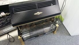 Large decorative electric fire black and gold