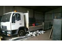 Man 7.5 tonne flatbed dropside lorry