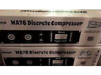 WARM AUDIO WA76 MATCHED STEREO-PAIR COMPRESSOR