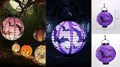 Laterne Halloween Papier mit LED 20cm Deko Dekoration ()