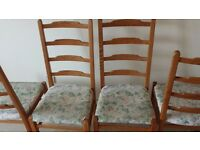 Fold down Dining Table with 4 x Chairs