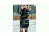 Brand new shinny black jacket size 10-12