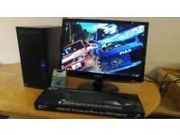 Custom Quad PC- New Business PC Desktop Tower & 22 Samsung HD LCD