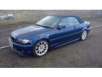 bmw 318ci sport convertible 2003 03 plate manual metallic blue