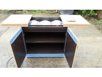 Hostess Food Warmer Trolley With 3 Glass Dishes with lids