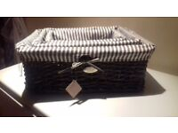new 2 x laundry baskets and set of 3 wicker baskets