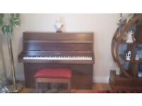 IMMACULATE ROSEWOOD KEMBLE MINX PIANO AND STOOL