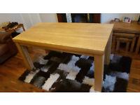 Light Solid Oak Dining Table / Dinner Table