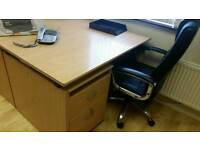 Office tabel and chairs + cabinets