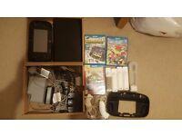 Nintendo Wii U 32GB + 3 Games and 4 Remotes