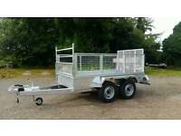 new 8 2 X 4 2 twin axle trailer high mesh sides removable Cookstown