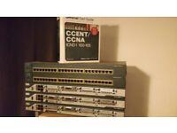 Cisco CCNA CCNP LAB STARTER KIT 3X 2801 + 2X C2950, cables CCENT ICND1 100-105 Official Cert Guide