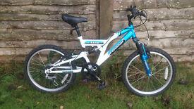 "Childs Kids 20"" Wheel Full Suspension 6 Speed Mountain Bike Bicycle"