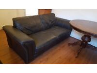 ONO Two three seater leather sofas and one two seater