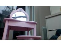 Girls makeup table / desk and stool