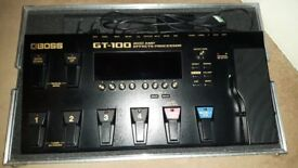 Boss G T 100 Multi Effects Pedalboard.
