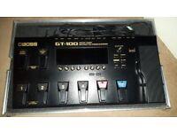 Boss G T 100 Multi Effects Pedalboard.