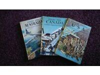 A SET OF THREE RARE 1950/60's LADYBIRD AIR TRAVEL BOOKS.
