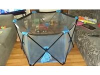Pop up Playpen Portable Baby Play Yard Blue