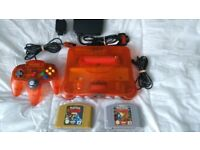 LIMITED EDITION N64 FIRE ORANGE CONSOLE